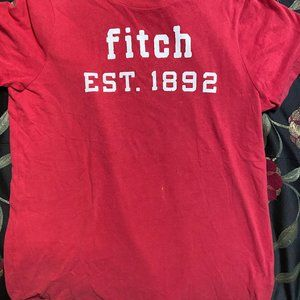 Abercrombie and Fitch Red Tee Shirt Size Medium